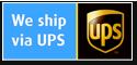 We ship via UPS