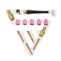 TIG wear parts set 14 pieces forTorch WP SR Binzel 17 18 26