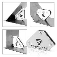 Magnetwerkzeug Set 2 × Magnet-Schweißwinkel 4 kg / 9 lbs + Masseklemme