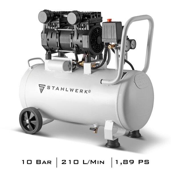 STAHLWERK Compresseur dair comprimé silencieux ST 310 Pro Pression de sortie 10 Bar