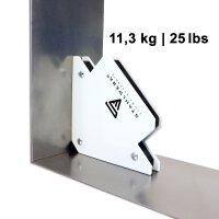 3 × STAHLWERK Magnet-Schweißwinkel 25 / 50 / 75 lbs