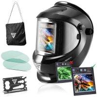 Fully automatic helmet STAHLWERK ST-800PV black shiny