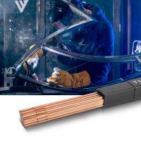 STAHLWERK Barre per saldatura TIG ER70S-G3 in acciaio / Ø 2,5 x 500 mm / 2 kg Scatola di conservazione inclusa