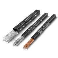 TIG welding filler rods steel / stainless steel / aluminum set / Ø 1,6 x 500 mm / 1 kg / 0,8 kg