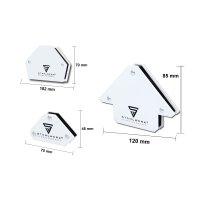 STAHLWERK Magnet-Schweißwinkel 6er Set