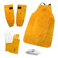 Welding Protective Clothing Set gloves + apron + arm...