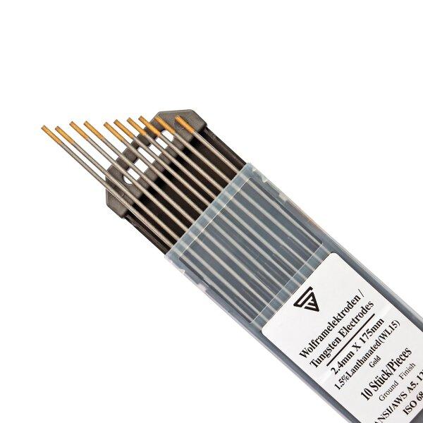 10 x TIG Electrodes de soudage au tungstène 2,4 x 175 mm WL15