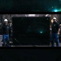 Schweißerschutzwand 2,4m x 1,8m mobil