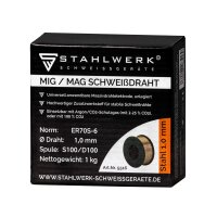 Filo per saldatura MIG MAG ER70S-6 SG3 Ø 0,8 mm S100/D100 rotolo 1 kg