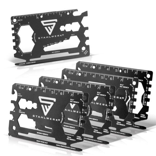 Toolcard 18 in 1 Multifunktionswerkzeug in Kartengröße 3er Set