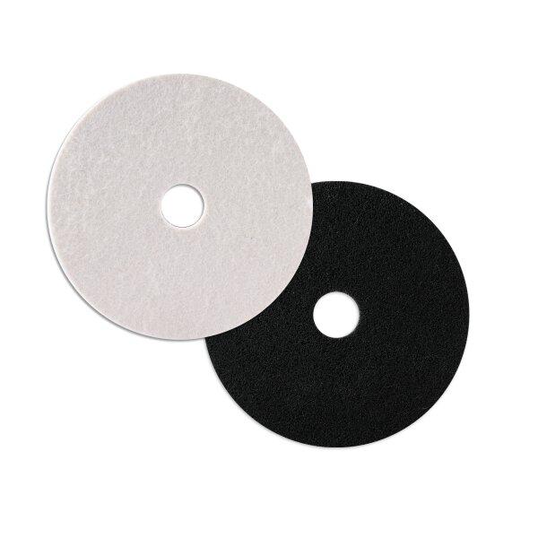 Disco abrasivo fieltro/nailon + disco de pulido fieltro para amoladora angular