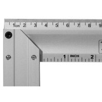 Aluminum try square with spirit level 400 mm