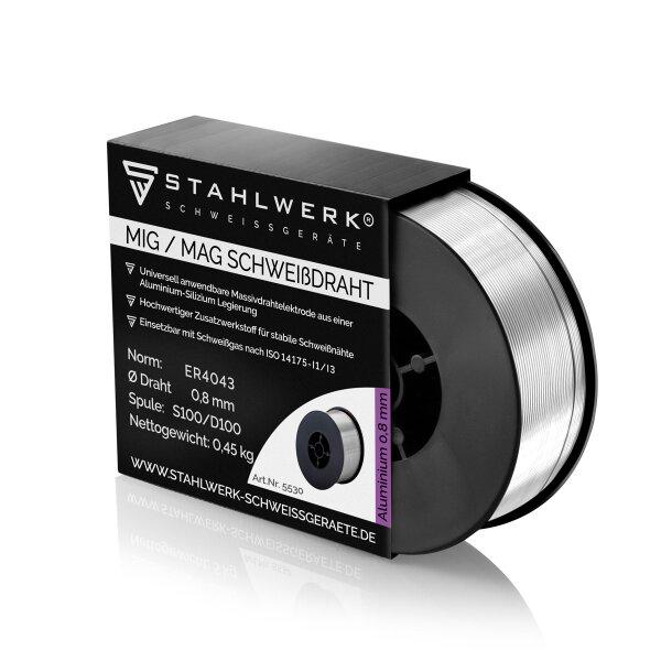 MIG MAG Aluminium Schweißdraht ER4043 Si5 (ALSI-5) Ø 0,8 mm 0,45kg Rolle