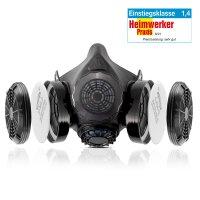 STAHLWERK Atemschutz-Halbmaske mit Doppelfilter HM-2 ST