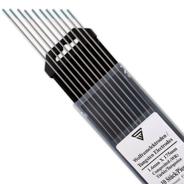 STAHLWERK Tungsten Electrodes WR Turquoise 1.6 mm Set of 10