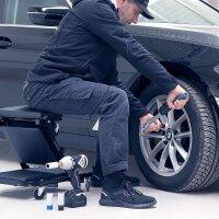 STAHLWERK Reifenwechsel-Set Basic bestehend aus Wagenheber, Drehmomentschlüssel und Arbeitshandschuhen