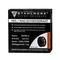 Filo per saldatura MIG MAG ER70S-6 SG3 Ø 0,8 mm S200/D200 rotolo 5 kg