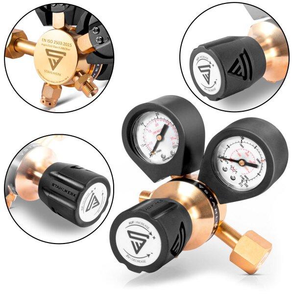 Druckminderer für ARGON / CO2 / Schutzgas