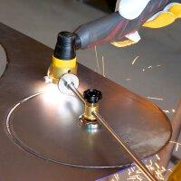 Cutter circulaire STAHLWERK pour torche à plasma P-80, y compris chariot de guidage et aimant, accessoires pour cutters à plasma avec allumage pilote