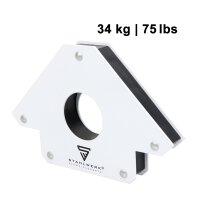 2 × Angle de soudage magnétique 11,3 + 34 kg / 25 + 75 lbs