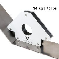 2 × STAHLWERK magnetic welding angles holding power up to 25 / 75 lbs