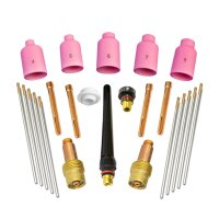 TIG wear parts set 24 pieces forTorch WP SR Binzel 17 18 26