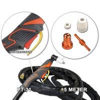 Plasmaschneidbrenner PT-31 Basic Schlauchpaket 5m bis 40A