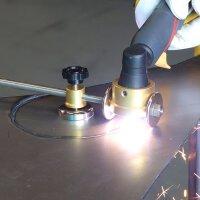 Cutter circulaire STAHLWERK pour torche à plasma P-60, y compris chariot de guidage, accessoires pour cutters à plasma avec allumage pilote