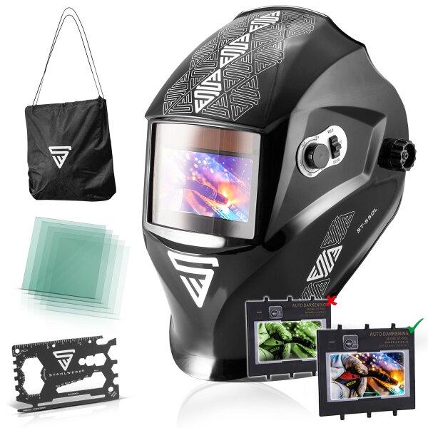 Fully automatic helmet STAHLWERK ST-550L black shiny